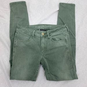 American Eagle Outfitters Jeans - American Eagle Super Super Stretch Green Jeggings